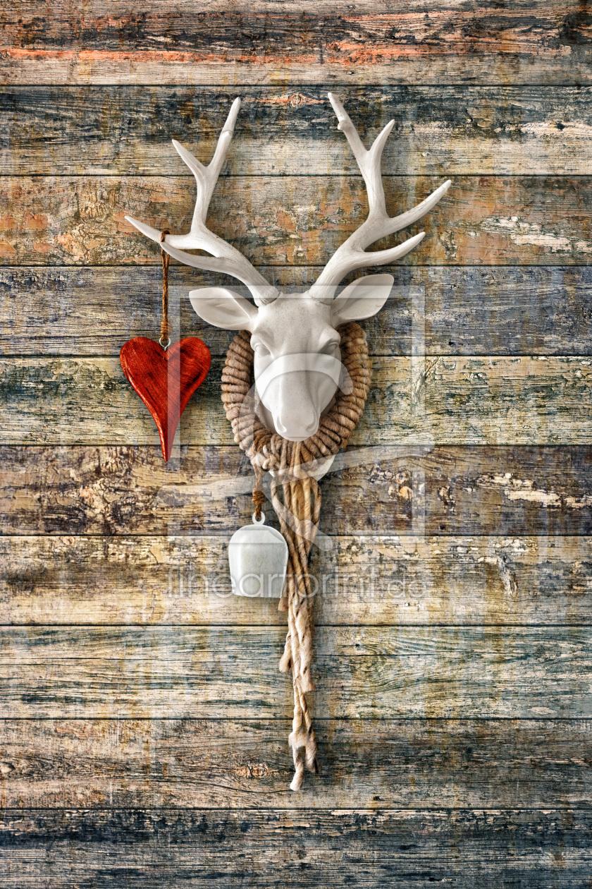 Hirschherz deer heart as a canvas print 11592372 fi - Hirsch bild leinwand ...