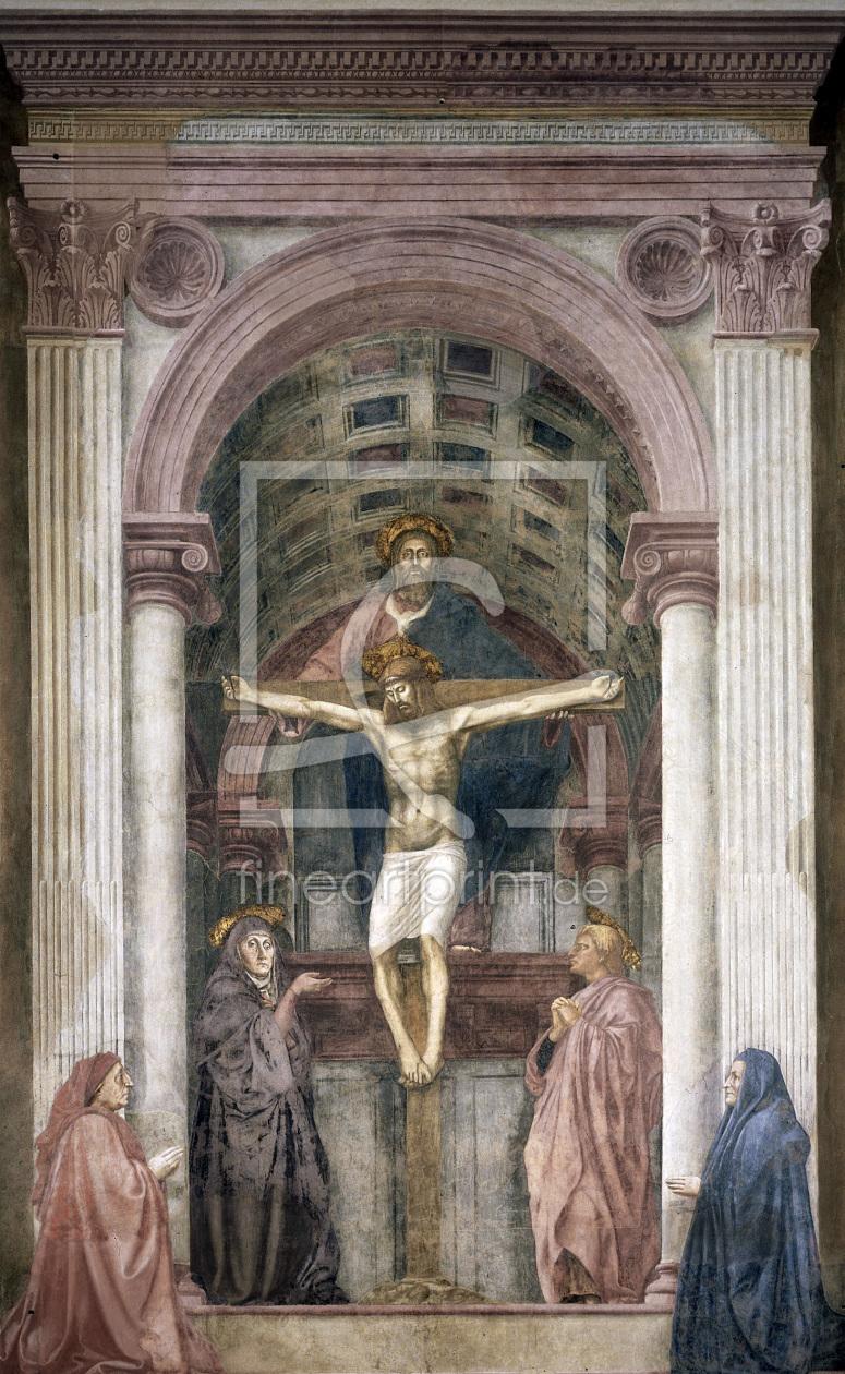 Masaccio SS.Trinità Fresco c.1426 as a canvas pri...