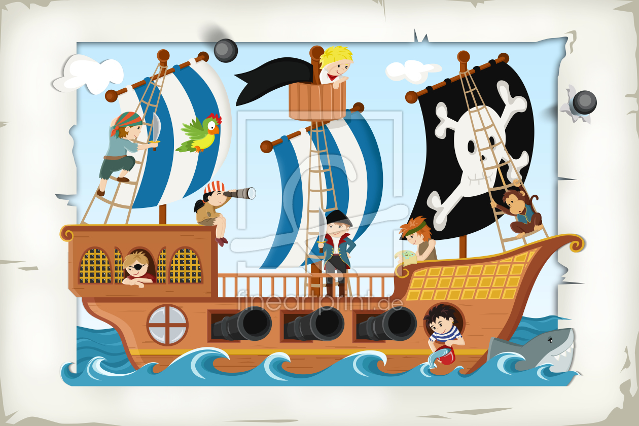 Piraten Und Piratenschiff Print As A Poster 10984936 F