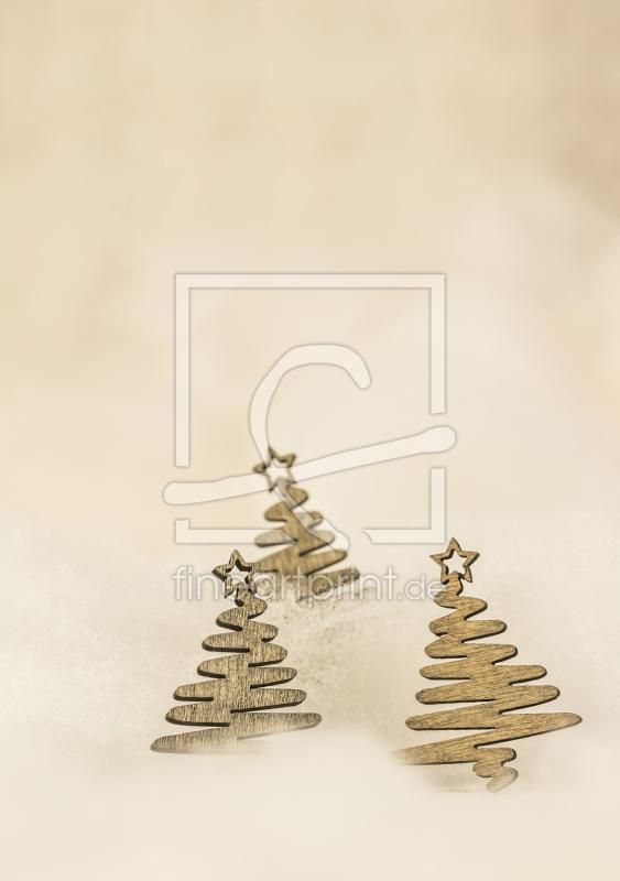 weihnachtsb ume aus holz weihnachtskarte print as. Black Bedroom Furniture Sets. Home Design Ideas