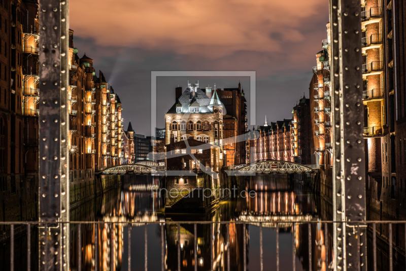 Speicherstadt Hamburg mit Brücke als Türfolie perfekt g...