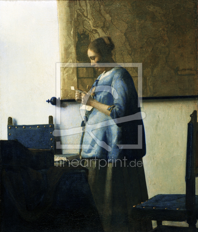 Vermeer Woman in blue c.1663 1664 as a