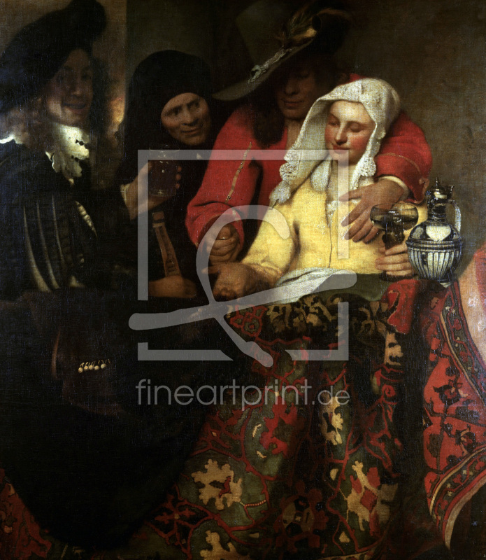 Procuress 1656 as a wallpaper print